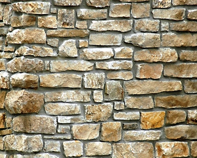 Indiana Brownstone Rubble stone wall