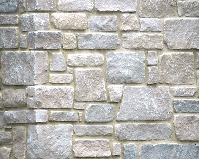 Rockford estate blend limestone wall